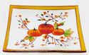Click here to buy Yankee Candle Glass Candle Tray Plate Pumpkin Harvest