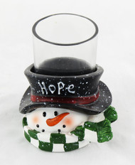 Shop now for Yankee Candle Company Votive Holder Hope Snowman Winter Holiday