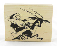 Shop here now for Santa and Reindeer Tim Holtz Sketch Wood Mounted Stamp