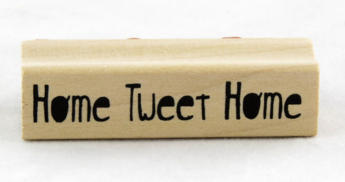 Shop now for Inkadinkado Wood Mounted Rubber Stamp Home Tweet Home House Warming