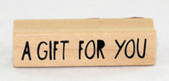 Shop now for Wood Mounted Inkadinkado Stamp A Gift For You Present Card