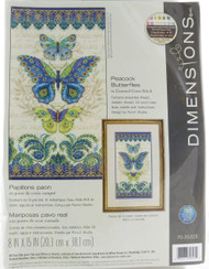 Shop now for Peacock and Butterflies Counted Cross Stitch Kit Dimensions
