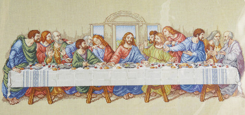 Click here to buy The Last Supper Cross Stitch Kit Janlynn