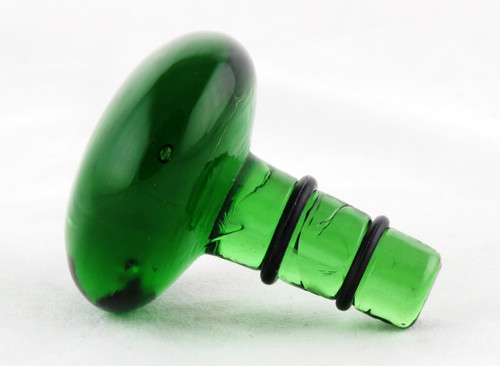 Shop now for Green Glass Knob Orb Bottle Stopper Modern Barware