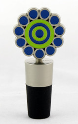 Shop now for Blue and Green Metal Daisy Bottle Topper