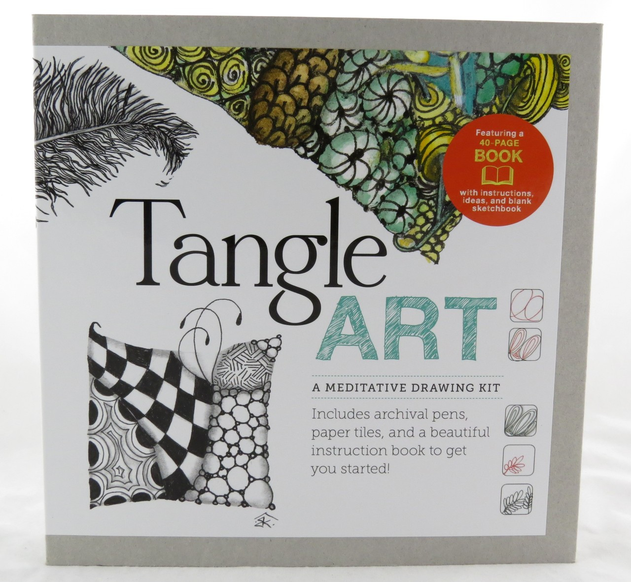 Quarry Tangle Art A Meditative Drawing Kit With Book