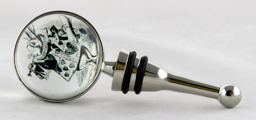 Shop now for White Rabbit Alice In Wonderland Glass Bottle Stopper