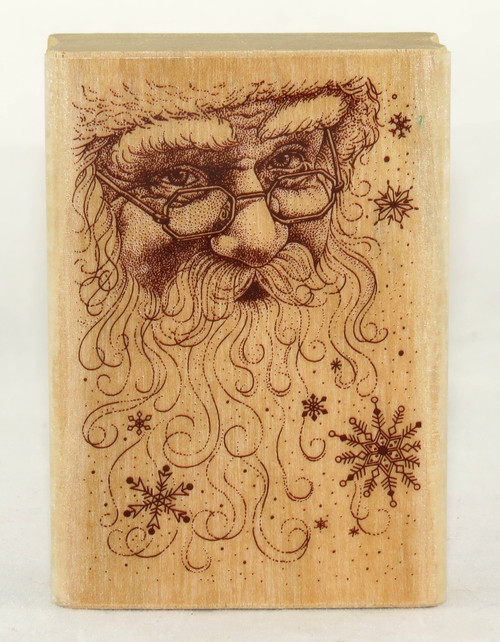 Shop now for Holiday Santa Wood Mounted Stamp from Delta and Plaid