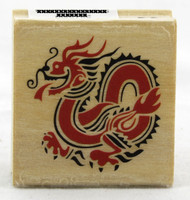 Shop now for Chinese Dragon Wood Mounted Stamp