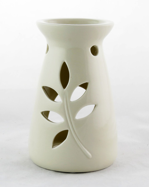 Shop now for Ceramic Oil Warmer Tealight Leaf Cutout