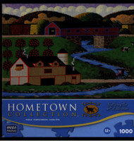 Covered Bridge Hometown Collection 1000 piece Jigsaw Puzzle by Heronim Wysocki