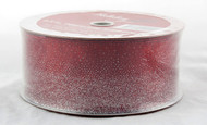 Shop now for Silver Sparkle Dusted Over Red Sheer 2.5 inches Wide Wired Ribbon 50 yards