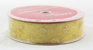 Shop now for Gold Sparkle Polka Dot on Gold Sheer 1.5 inches Wide Wired Ribbon 50 yards