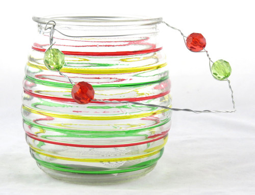 Shop now for Beehive Glass Hanging Basket Tea Light Candle Holder