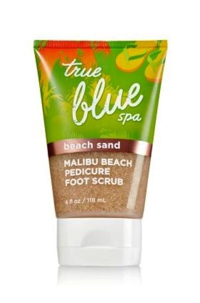 Click here to buy Malibu Beach Sand Pedicure Foot Scrub True Blue Spa Bath and Body Works