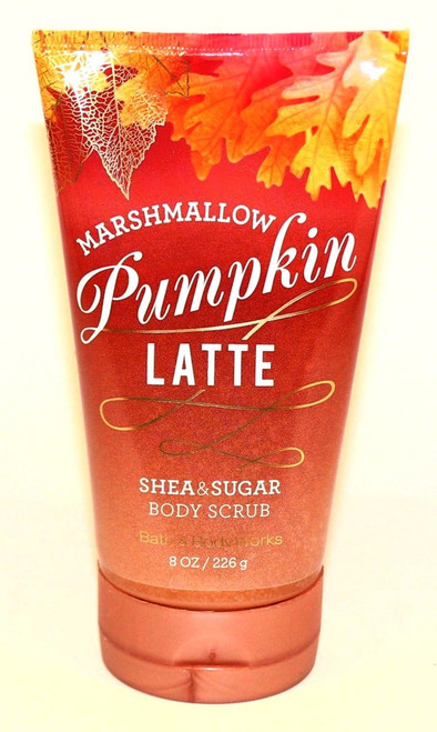 Click here to buy Marshmallow Pumpkin Latte Shea and Sugar Body Scrub Bath and Body Works