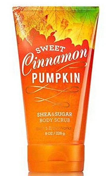 Shop here now for Sweet Cinnamon Pumpkin Shea and Sugar Body Scrub Bath and Body Works