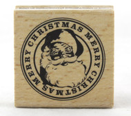 Shop here for Santa Claus Merry Christmas Holiday Wood Mounted Rubber Stamp