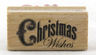 Shop for this Bold Font Christmas Wishes Wood Mounted Stamp