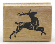 Shop for Dancing Reindeer Wood Mounted Rubber Stamp now!