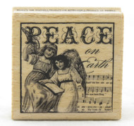 Shop for this beautiful Peace on Earth Angel Stamp Wood Mounted Rubber Stamp