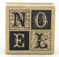 Shop now for Noel Blocks Wood Mounted Rubber Stamp