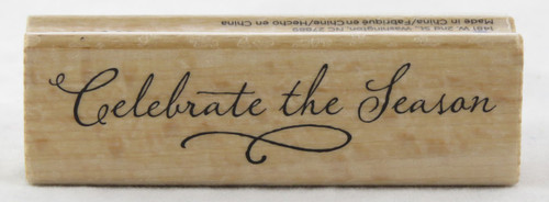 Click to buy Celebrate the Season Wood Mounted Rubber Stamp