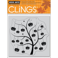 Pumpkin Tree Rubber Cling Stamp Hero Arts