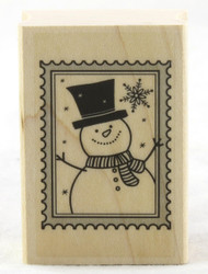 Snowman Stamp Wood Mounted Rubber Stamp Hero Arts