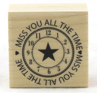 Shop now for Miss You All The Time Wood Mounted Rubber Stamp Hero Arts
