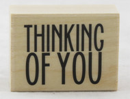 Shop here now for Thinking Of You Wood Mounted Rubber Stamp Hero Arts