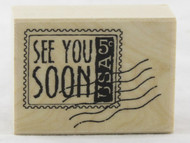 Click here to shop for See You Soon Wood Mounted Rubber Stamp Hero Arts