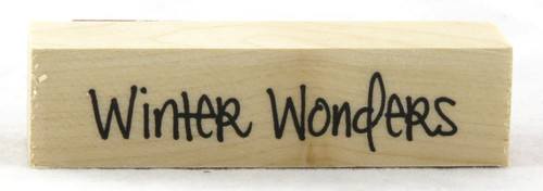 Winter Wonders Wood Mounted Rubber Stamp Hero Arts