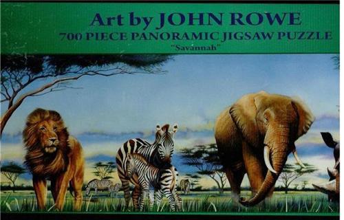 Savannah by John Rowe 700 piece Panoramic Jigsaw Puzzle