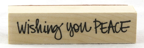 Wishing You Peace Wood Mounted Rubber Stamp Hero Arts