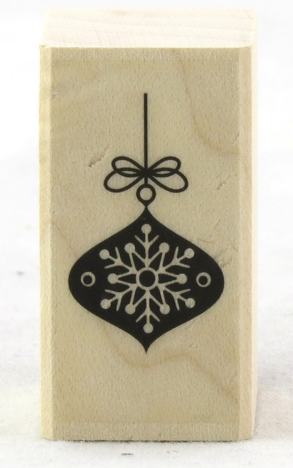 Shop now Snowflake Ornament Wood Mounted Rubber Stamp Hero Arts