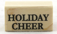 Shop here now for Holiday Cheer Wood Mounted Rubber Stamp Hero Arts