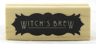 Shop now for Witch's Brew Wood Mounted Rubber Stamp Inkadinkado