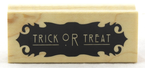 Shop now for Trick Or Treat Wood Mounted Rubber Stamp Inkadinkado