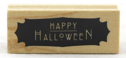 Shop now for Happy Halloween Wood Mounted Rubber Stamp Inkadinkado