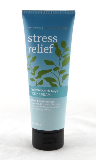 Cedarwood and Sage Stress Relief Aromatherapy Body Cream Bath and Body Works 8oz
