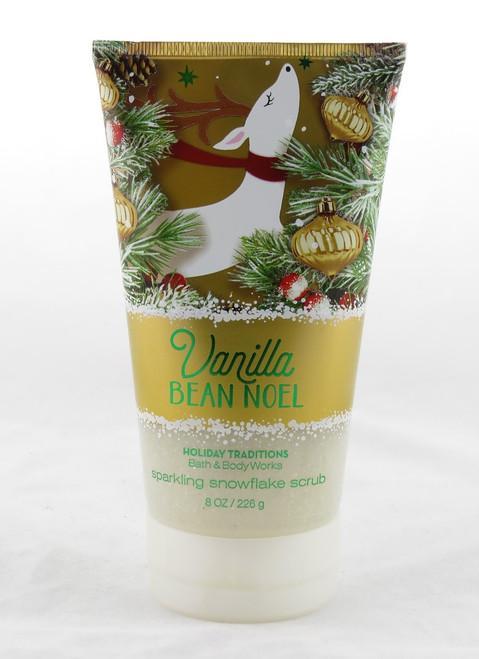 Vanilla Bean Noel Sparkling Snowflake Body Scrub Bath and Body Works 8oz