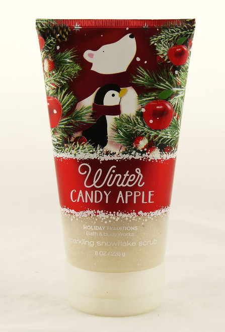 Winter Candy Apple Sparkling Snowflake Body Scrub Bath and Body Works 8oz