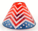 American Dream Chevron Bunting Crackle Glass Jar Shade Yankee Candle