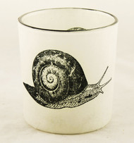 Snail Autumn Nature Glass Votive Candle Holder Yankee Candle