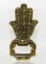 Gold Hamsa Hand Brass Bottle Opener Earthbound Trading