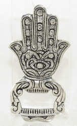 Silver Hamsa Hand Brass Bottle Opener Earthbound Trading