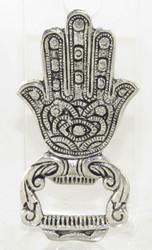 Silver Hamsa Hand Brass Bottle Opener Earthbound Trading