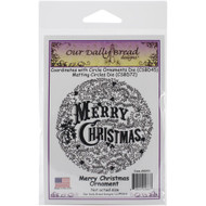 Merry Christmas Ornament Cling Stamp Our Daily Bread
