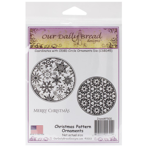 Christmas Pattern Ornament Cling Stamp Collection Our Daily Bread